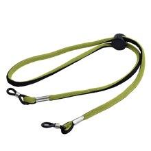 Venta al por mayor 20 piezas verde y negro moda gafas deporte cordón ajustable al aire libre gafas de sol deportes banda elástica Correa cabeza banda
