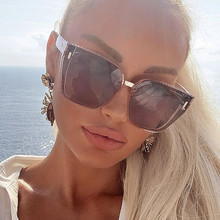 Polarized square women's sunglasses luxury brand vintage ove