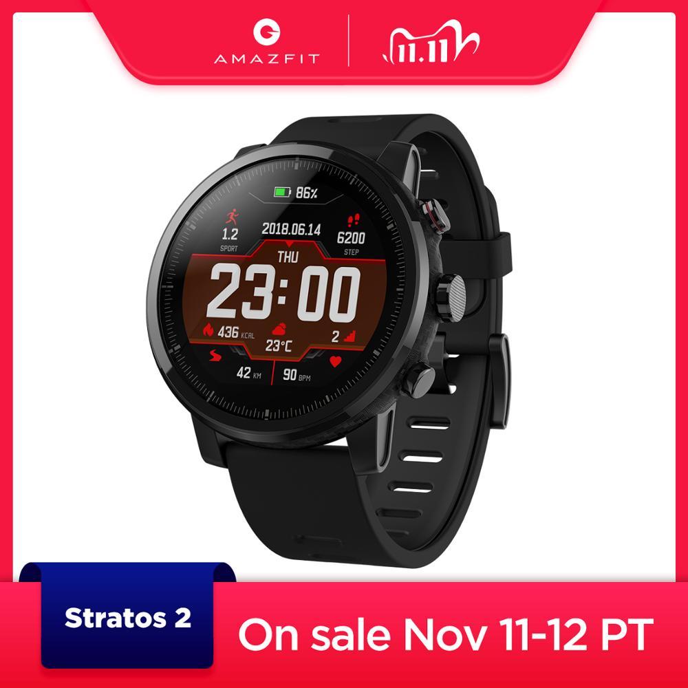Amazfit original stratos smartwatch relógio inteligente bluetooth gps contagem de calorias monitor