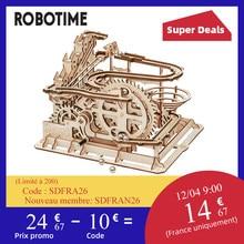 Robotime Rokr – roue à eau en bois pour enfant et adulte, 4 modèles de construction, kit d'assemblage, jouet cadeau