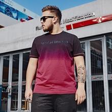 Летняя мужская Повседневная футболка размера плюс, модный топ с коротким рукавом и тройники Gradi, большие размеры 5XL 6XL 7XL 140 кг, Мужская брендовая одежда большого размера