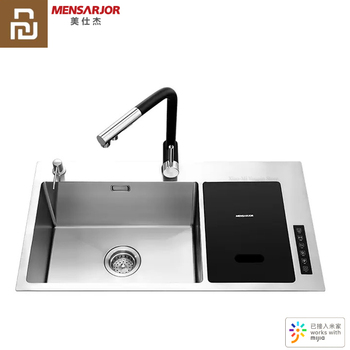 Youpin MENSARJOR Kitchen Sink Clean Machine Automatic Water Supply Drainage Ultrasonic Wave Timed Washing Mijia App SmartControl