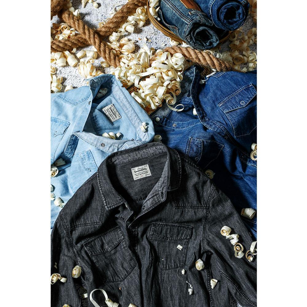 Image 2 - Мужская джинсовая рубашка SIMWOOD, Повседневная рубашка из 100%  хлопка с пуговицами, большие размеры, качественная брендовая одежда,  весна 2020, 190407Повседневные рубашки