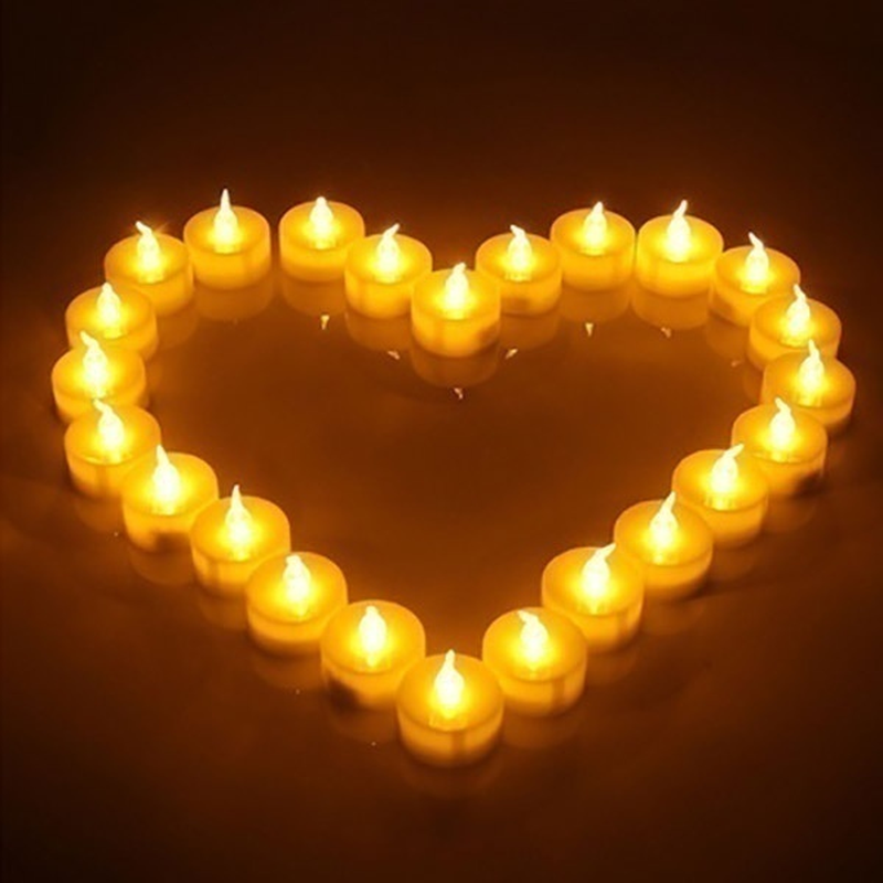 Image 3 - 12/24/48pcs  Flameless LED Tealight Tea Candles Wedding Light Romantic Candles Lights for Party Wedding Decorations-in Holiday Lighting from Lights & Lighting on