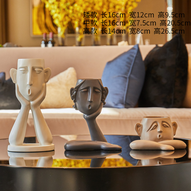 Abstract figure decoration Resin flower pot modern Vase Home Decorations TV cabinet porch living room Craft furnishings 4