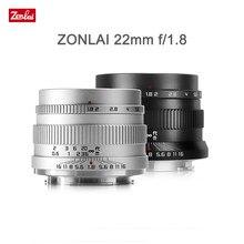 Zonlai 22mm F1.8 Manual Prime Lens for Fuji for Sony E-mount for Micro 4/3 a6400 X-T3 X-T4 XS-10 X-E3 X-A2 Mirrorless Camera