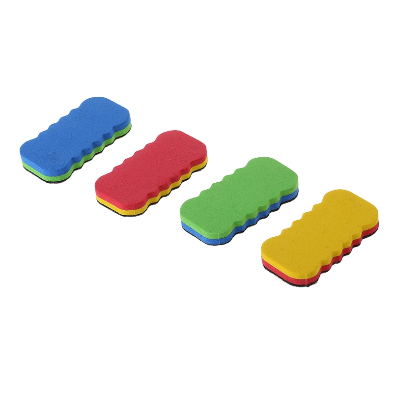 Systematic 1 Pc Colorful Whiteboard Eraser For Dry Board Multi Color Office School Supply Chills And Pains
