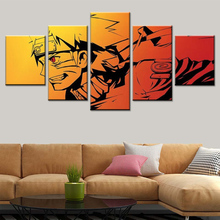 Modern dekoratif boyama modüler 5 parça tuval sanat Naruto poster anime tuval duvar sanatçısı residence dekoratif tuval toptan ковер tuval apex ковер tuval