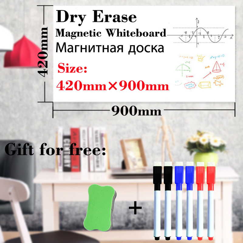 Magnetic Whiteboard Dry Erase White Board Fridge Stickers Wall Bulletin Board School Kitchen Office Child Draw Message Board