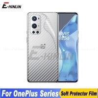 5pcs Carbon Fiber Zurück Abdeckung Screen Protector Für One Plus OnePlus 9 9R 8 8T 7T 7 pro 5G 6T 6 5 Aufkleber Schutz Film Kein Glas