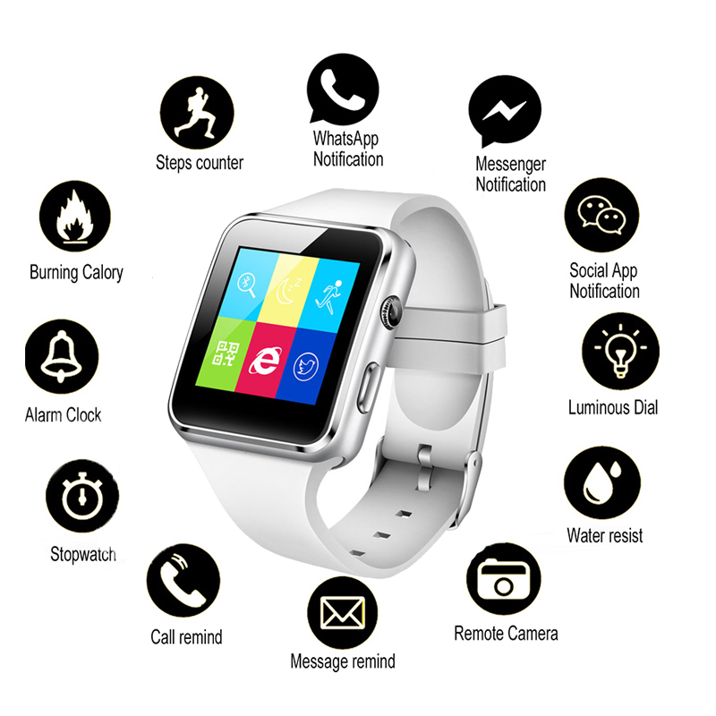 Watch Tracker Support Fitness NEW SIM Bluetooth for Android IOS Pedomet Camera Tf-Card