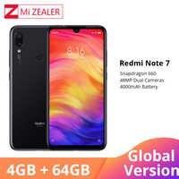 """Globale Versione Xiaomi Redmi Nota 7 4GB 64GB Del Telefono Mobile Snapdragon 660 Octa Core 4000mAh 48MP 5MP dual Camera 6.3 """"Schermo Intero"""