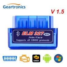 Super mini obd2 v1.5 elm327 bluetooth v 1.5 obd 2 elm 327 carro diagnóstico-ferramenta scanner elm-327 obdii adaptador ferramenta de diagnóstico automático
