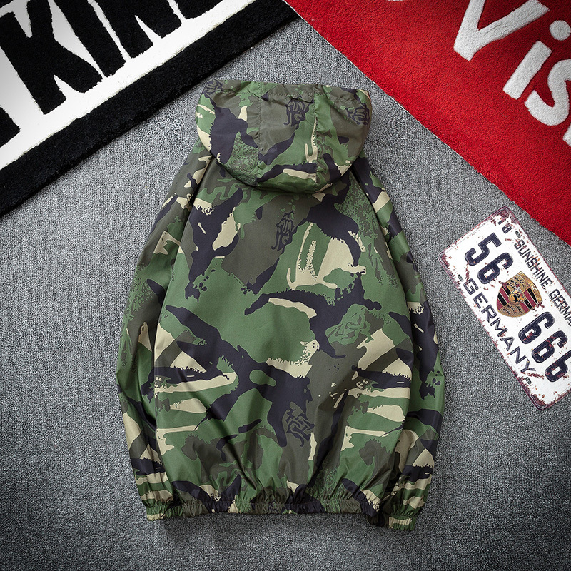 2018 New Style Jacket Men's Autumn & Winter Coat Men's New Style Hooded Japanese-style Ink Contrast Color Casual Streetwear Wome