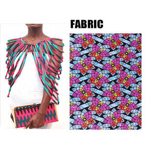 Image 4 - BRW 2020 African Ankara Handmade Strap Necklaces Fashion Accessories Jewelry Gift Afircan Fabric Print Necklace Shawl WYX15