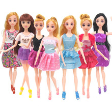 Baby Doll Accessories Bjd Doll Toy Princess Fashion Clothes Skirt Party Dress Evening Life Casual Clothes Dolls Gifts for Girls 30cm handmade dolls party dress set gown skirt colorful fashion clothes for doll mermaid tail dress baby girls pretend toy