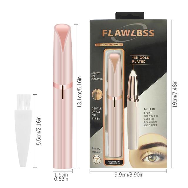 KIMUSE Mini Electric Eyebrow Trimmer Stick Painless Eye Brow Epilator Shaver Razors Portable Facial Hair Remover Makeup Tools 2