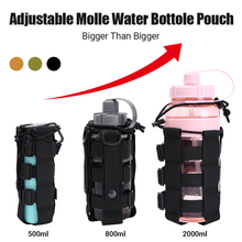 Tactical Molle Adjustable Water Bottle Pouch Holster Carrier Outdoor Military Water Bottle Kettle Bag Camping Hiking Travel Kit outdoor tactical military water bottle bag kettle pouch holder carrier