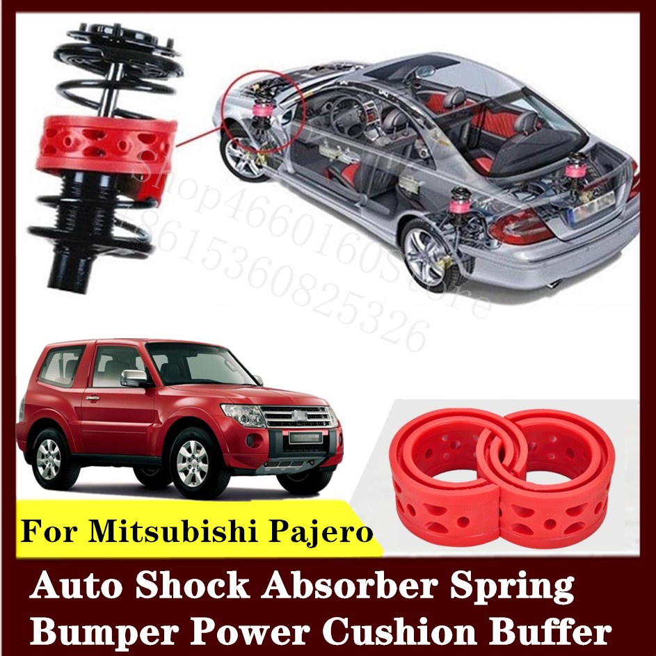 For Mitsubishi Pajero 2pcs High-quality Front or Rear Car Shock Absorber Spring Bumper Power Auto-buffer Car Cushion Urethane image