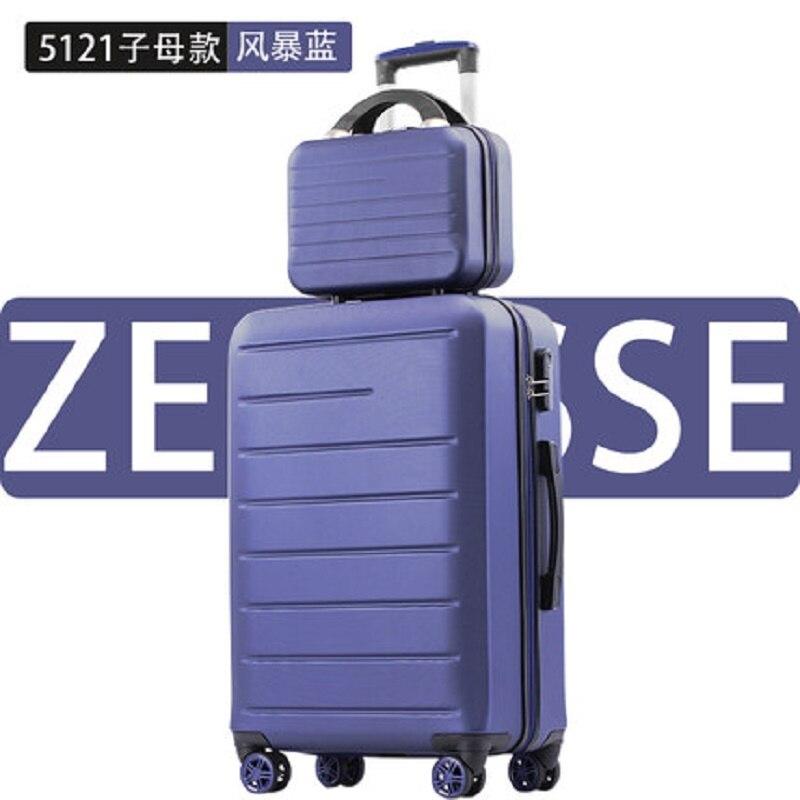 Perfect effen kleur 20/24/28 Inch size Klassieke mode handtas en Rolling Bagage Spinner merk Reizen Boarding koffer