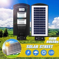 80 LED 40W Wall Lamp IP65 Solar Street Light R adar motion 2 In 1 Constantly bright & Induction Solar Sensor Remote Control