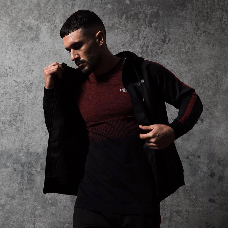 Muscle Brother Spring New Style Fitness Running Set Men Morning Exercise Zipper Fitness Suit