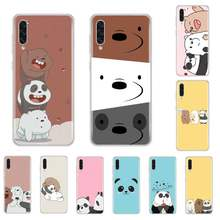 Cartoon Cute Bear panda Soft Phone Case For samsung galaxy A3 A5 A7 A10 A20 E A30 S A40 A50 A70 A71 A80 2017 2018(China)
