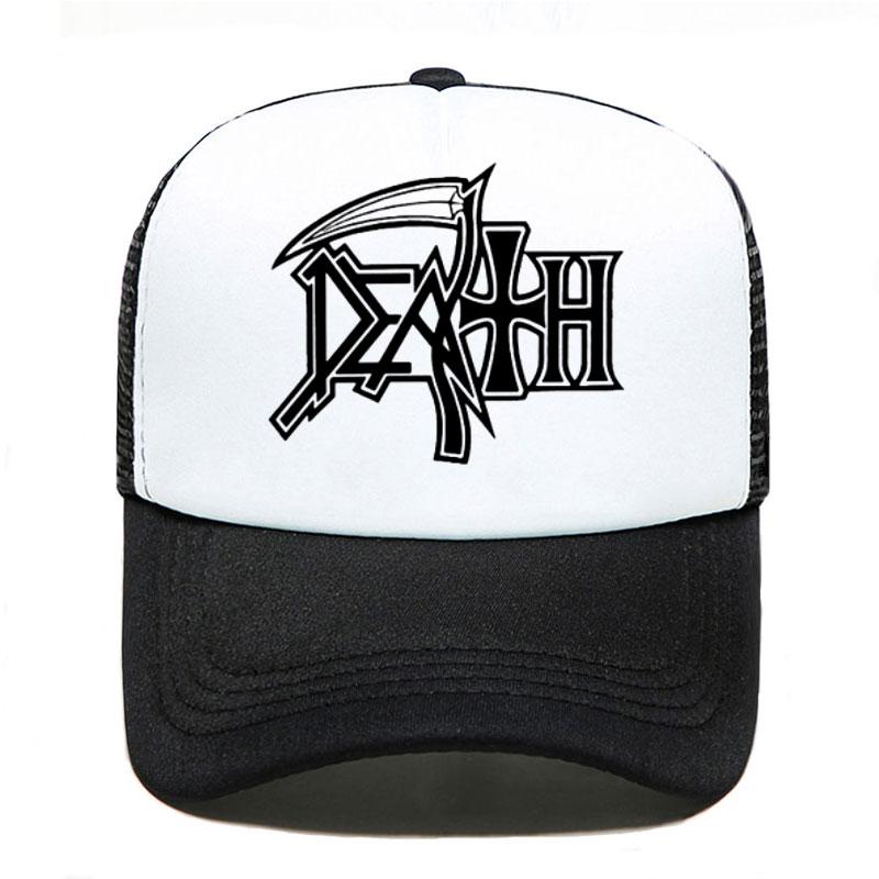 DEATH Hoodies ROCK BAND HEAVY METAL Baseball Cap Women Men Unisex 2020 Summer Parent-child Hats Mesh Visor Outdoor Sun Hat