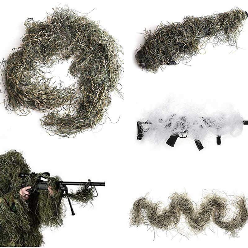 La tattica del Fucile di Caccia di Corda Involucro Tipo di Erba Ghillie Suits Pistola Roba Copertura Per Mimetica Yowie Sniper Paintball Abbigliamento Per La Caccia