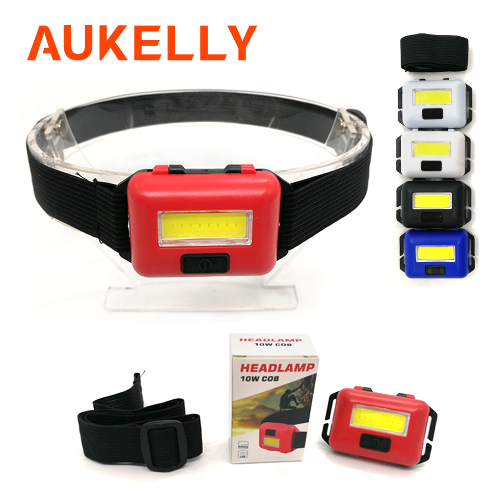 COB LED Headlamp Mini Headlight Flashlight Camping Hiking Head Torch Lantern AAA
