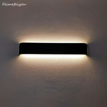 luces Modern minimalist LED aluminum lamp bedside lamp wall room bathroom mirror light direct creative aisle bedroom decor