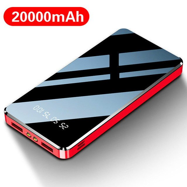 Power Bank 20000mAh Fast Charging Powerbank Slim Poverbank Portable External Battery Charger For Xiaomi Mi 9 8 iPhone 11 Pro Max 1