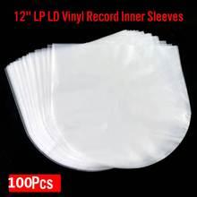 100 sztuk 50 12 #8222 PE płyta winylowa LP LD Record 7 5 #8221 OPP plastikowe torby antystatyczne rękawy rekordowe zewnętrzna wewnętrzna plastikowa przezroczysty pokrowiec tanie tanio CLAITE CN (pochodzenie)