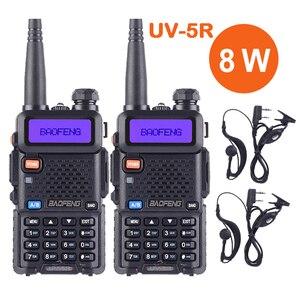 2PCS Baofeng UV 5R Ture 8W High Powerful Walkie Talkie 8 Watts CB Ham Portable Radio Two Way Radio 10km Long Range Pofung UV-5R