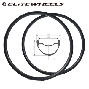 Image 1 - 29er MTB Carbon Rim Light Weight 380g 36mm Wider Tubeless Ready For XC Cross Country Mountain Bike Hookless Asymmetric Rims