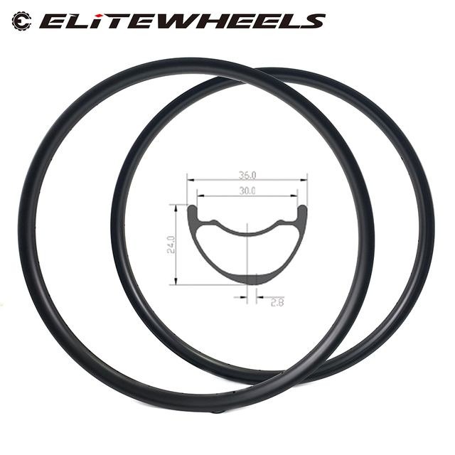 29er MTB Carbon Rim Light Weight 380g 36mm Wider Tubeless Ready For XC Cross Country Mountain Bike Hookless Asymmetric Rims