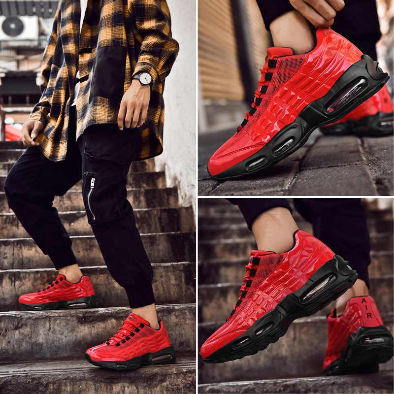 אוויר כרית גברים ריצה צבעונית נעלי ספורט מאמני גדול גודל 39-47 שביל Runnig סניקרס מגניב Mens מאמני רצי
