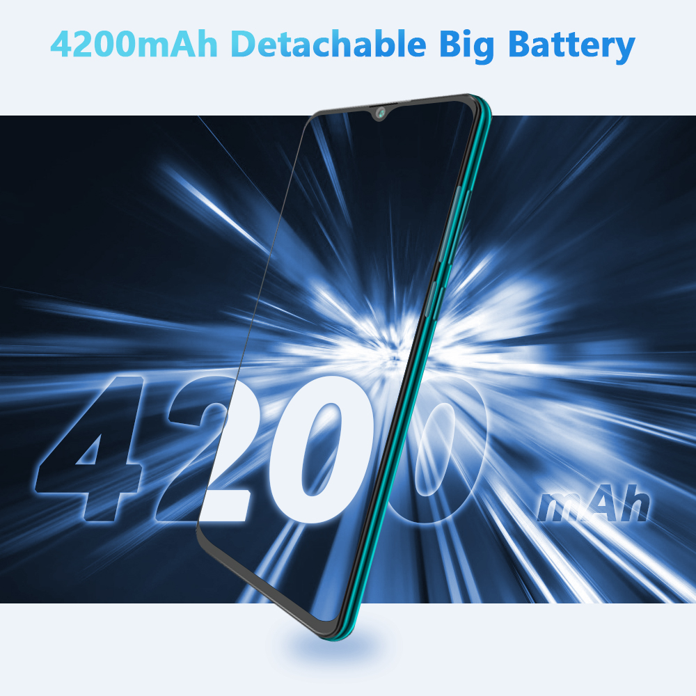 Cubot P40 Rear Quad Camera 20MP Selfie Smartphone NFC 4GB+128GB 6.2 Inch 4200mAh Android 10 Dual SIM Card mobile phone 4G LTE 4