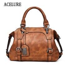 ACELURE omuzdan askili çanta kadın Tote marka kadınlar için Crossbody çanta postacı çantası Vintage deri çanta çanta kadın ünlü