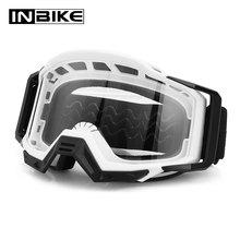 INBIKE 오토바이 고글 UV 증거 Windproof 고글 스키 스노우 보드 안경 안경 방진 Motocross 고글