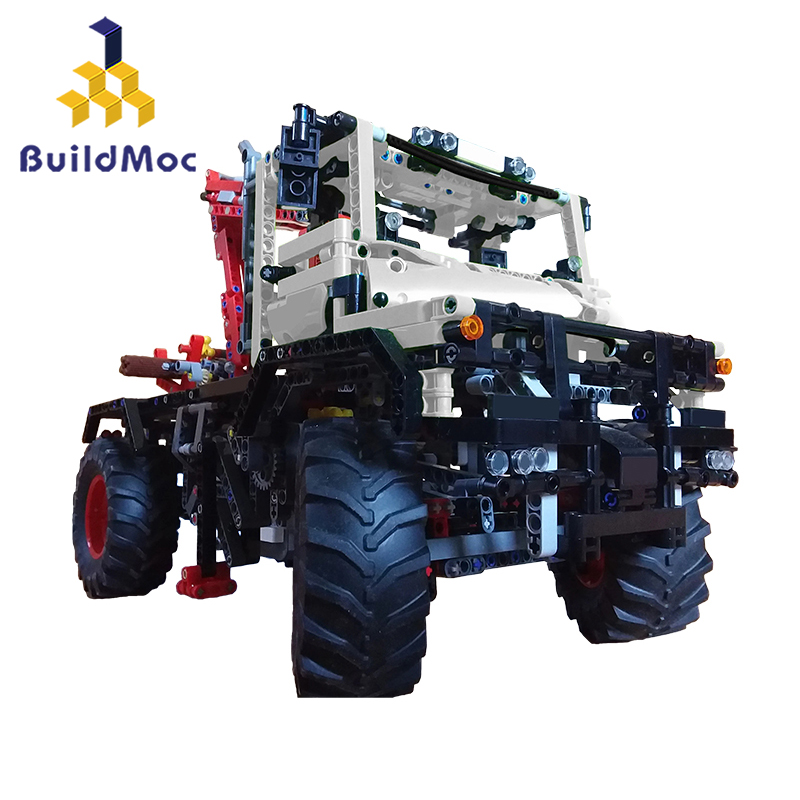 BuildMoc 16706 <font><b>42054</b></font> model C Off-road truck 4WD RC Car Radio Control RC Car Toys remotex control Trucks boys Toys Children image
