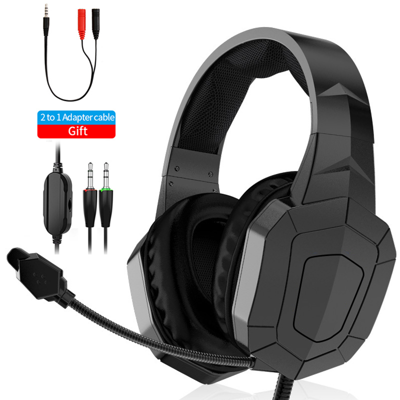 Gaming Headphones With Microphone 360 Rotation Headset Shocking Sound Music Bass Headset For PC Mobile Phone Tablet PS4 Switch