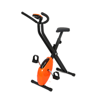 Indoor Cycling Bike Mini Exercise Bike Foldable Fitness Spinning Bike Domestic GYM Fitness Body Building X Type Exercise Bike