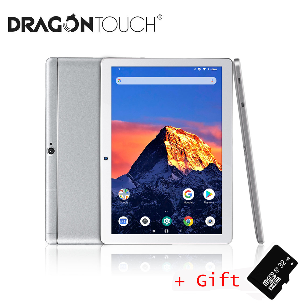 Dragon Touch K10 10 inch Android Tablet with 2GB RAM 16GB Quad Core Android 8.1 IPS HD Display Micro HDMI GPS FM Brand Tablet PC