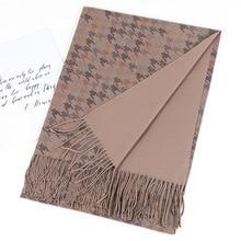 2020ファッションカシミヤスカーフ女性のためのショール両面ソフトパシュミナヒジャーブ冬暖かいスカーフ毛布赤ラクダグレー