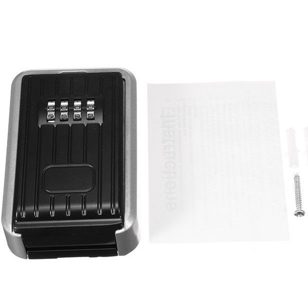 Key Lock Box With Waterproof Case Wall Mount Metal Password Box For Home Business Realtors OUJ99
