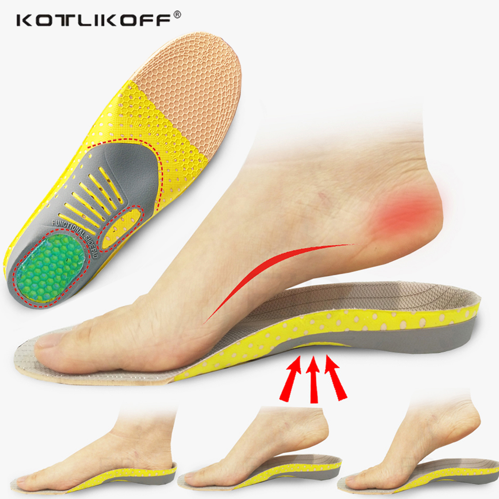 KOTLIKOFF Orthopedic Insoles Orthotics Flat Foot Health Sole Pad For Shoe Insert Arch Support Pad For Plantar Fasciitis Feet Pad