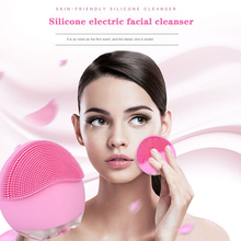 Electric face Facial Cleansing Brush Mini USB Silicone Sonic Cleaner Deep Pore Cleaning Waterproof Skin Massage Face wash brush summer style electric facial pore cleaner 5 in 1 electric wash face machine body cleaning massage mini skin beauty brush