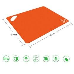 6 sztuk elastyczna plastikowa deska do krojenia maty zestaw kolorowe maty kuchenne z ikonami żywności łatwe do chwycenia uchwyty DEC889