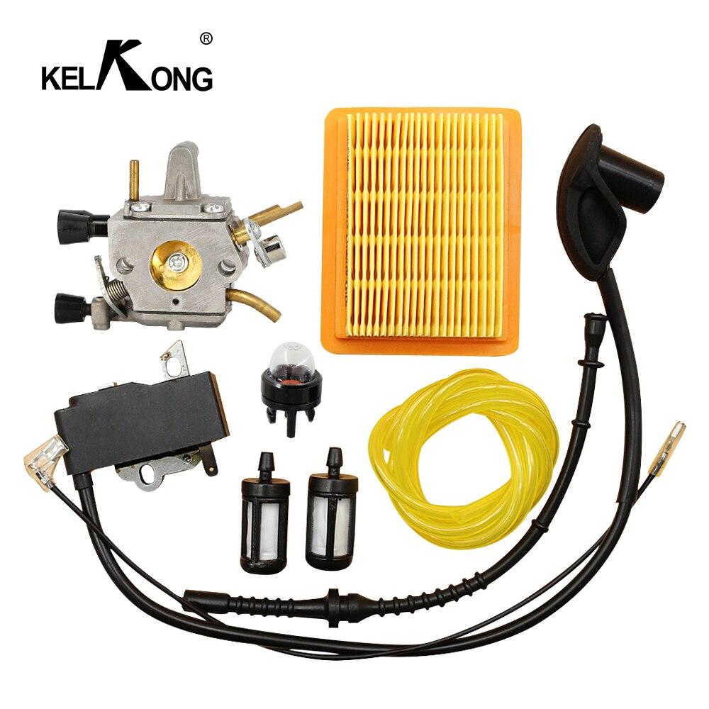 Carburetor Ignition Coil Air Filter Fuel Line for STIHL FS120 FS200 FS250